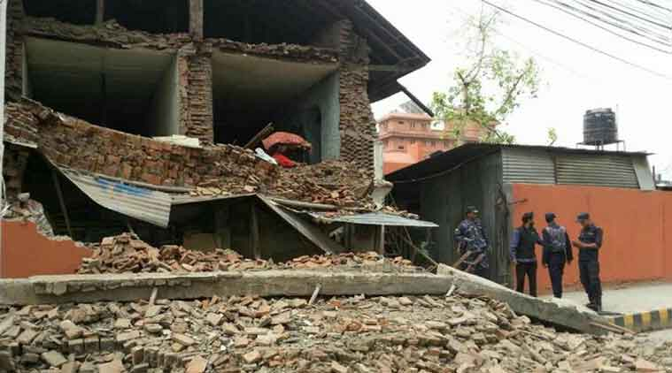 A destroyed building in Nepal after the earthquake. (Source: Associated Press)