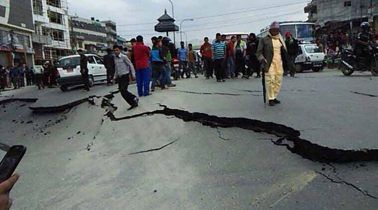 Nepal earthquake, Tibet, Damage, Nepal, nepal quake, breaking news, trending today, natural disaster, nepal natural disaster, nepal earthquake casualities, Earthquake, nepal airlines, nepal airlines halted, Siliguri municipal polls, Trinamool Congress, CPM, Earthquake, Domestic airlines, nepal news, india neighbours, asia news, world news, indian express