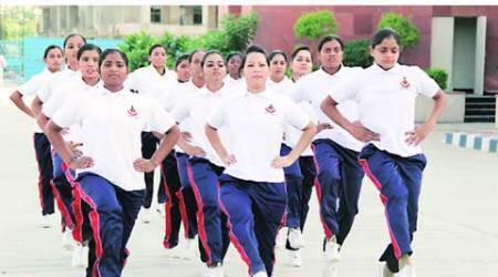 At all-women campus, cop-recruits toughen up