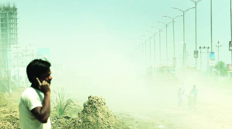 death by breath, air pollution, air pollution indian express, delhi construction, delhi urbanisation, gurgaon construction, noida construction, delhi news