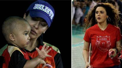 Preity, Dhawan's wife in attendance