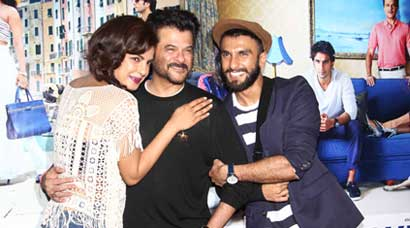 Hugs and poses for Priyanka Chopra, Anil Kapoor, Ranveer Singh at 'Dil Dhadakne Do' launch