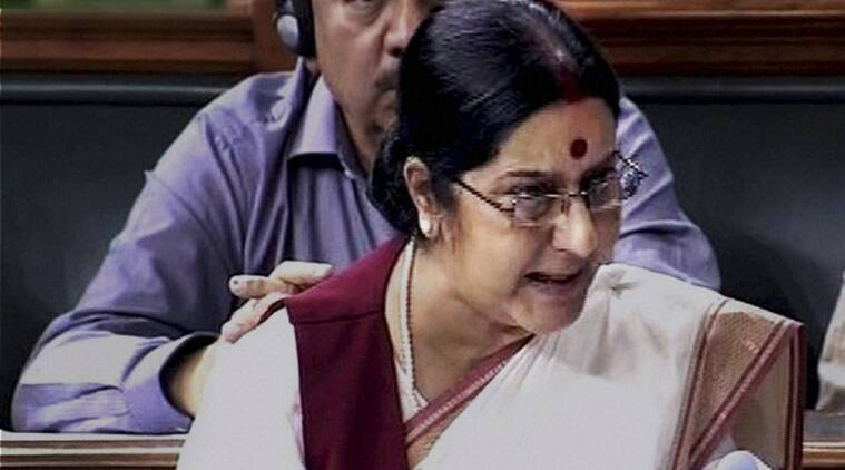 sushma swaraj in parliament