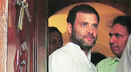 Rahul Gandhi pays tribute to earthquake victims at Nepalembassy