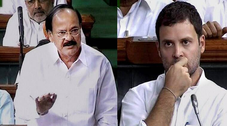 rahul gandhi, venkaiah naidu, rahul lok sabha speech, Narendra Modi, farmers land bill, land bill farmers, land ordinances bill, modi govt, congress, bjp, farmers, parliament, farmers, farmers issue, land bill, gandhi, rahul modi, modi govt, rahul gandhi lok sabha, india news, achhe din, suit boot wali sarkar, india news, nation news
