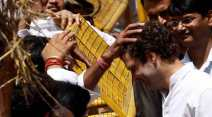 Rahul Gandhi, Rahul, Rahul with farmers, Rahul ganghi returns, Rahul sabbatical, Rahul meet farmers, Land ordinance, Land bill, Kisan rally, Congress Kisan rally, Rahul famers photos, Rahul gandhi photos, India news,