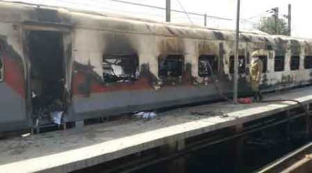 Six coaches of two Rajdhani trains gutted in fire, high-level probe ordered