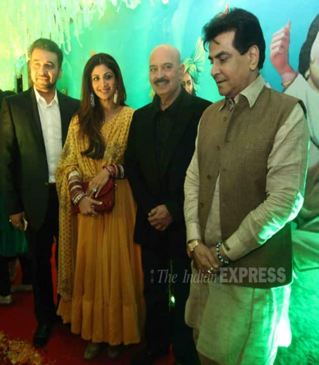 Shilpa Shetty, Rakesh Roshan, Jeetendra