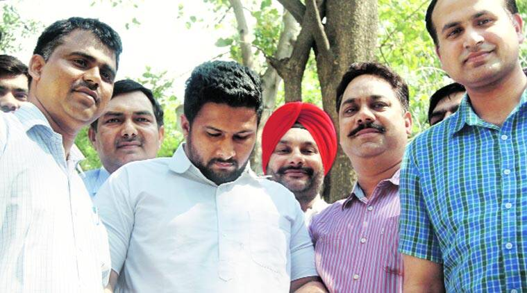 Raminder Singh in police custody. (Source: Express photo by Prem Nath Pandey)