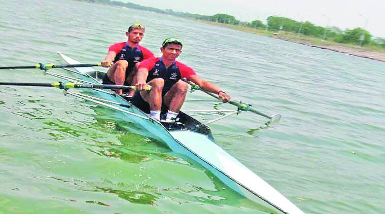 At a practice session at the Army Rowing Node in CME on Thursday. (Source: Express photo)