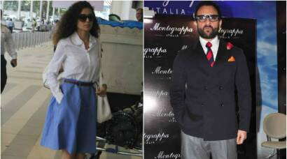 Kangana Ranaut takes off, Saif Ali Khan is all suited up