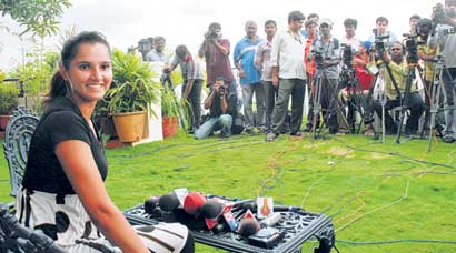 Sania Mirza on top of the world: Unseen pics of tennis queen