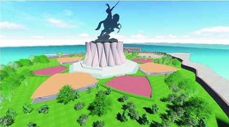 High tide fears delay bhoomi pujan  for mid-sea Shivaji memorial