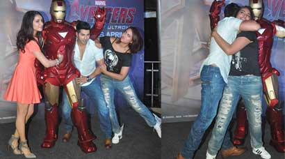 Sonakshi, Varun, Shraddha have loads of fun at Avengers screening