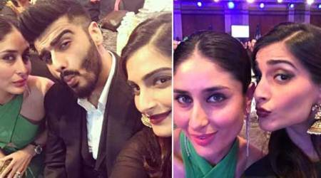 Kareena Kapoor, Sonam Kapoor and Arjun Kapoor pose for Sunday selfies