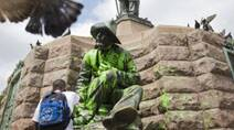 South Africa Vandalized Statues