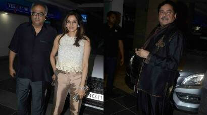 Sridevi, husband Boney Kapoor, Shatrughan Sinha party together