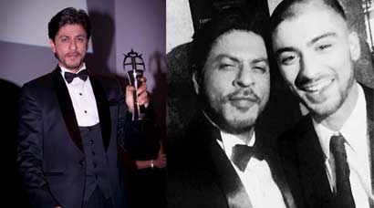 PHOTOS: Shah Rukh Khan honoured at The Asian Awards in London; parties with singer-songwriter Zayn Malik