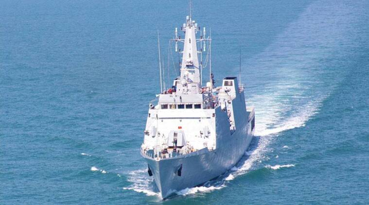 INS Sumitra during trial runs (Source: Indian Navy)