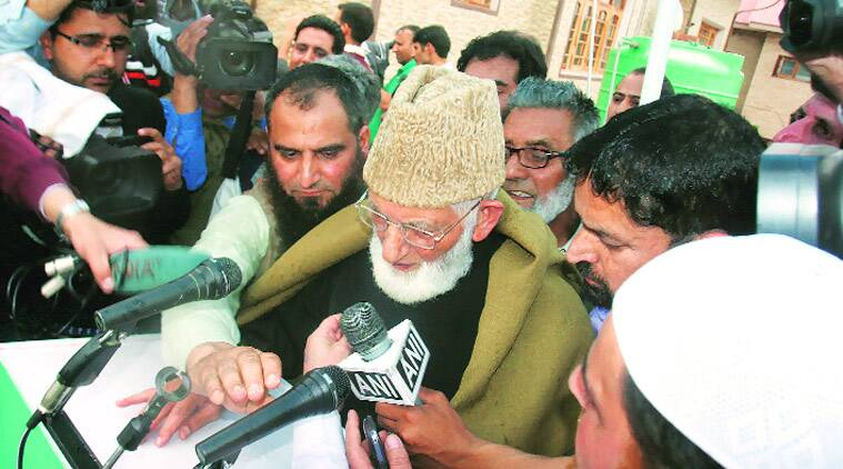 Syed Ali Shah Geelani, Masarat Alam, Hurriyat, Hurriyat separatists, Kashmiri separatist leader, separatist leader, Hurriyat separatist leader, Jammu and Kashmir, Jammu and Kashmir police, Jammu and Kashmir government, Jammu & Kashmir news, Geelani rally, Geelani rally Pakistan flags, India news, nation news