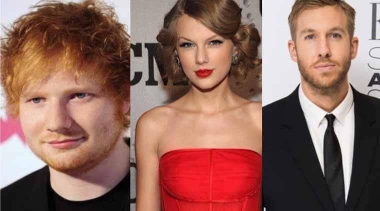 Taylor Swift, DJ Calvin Harris, Ed Sheeran