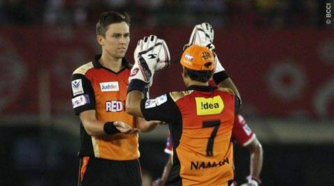 IPL 8: Trent Boult, David Warner star in SRH win