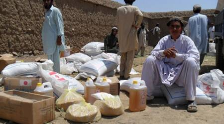 FILE - Aid distribution for displaced persons in Khost province, Afghanistan. Photo: UNHCR