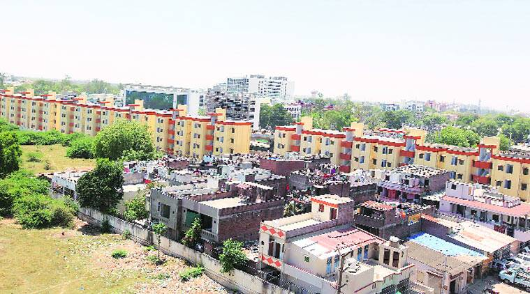 Representatives of the families have urged VMC to push for allotting flats by next week. (Source: express photo by Bhupendra Rana)