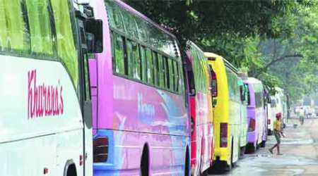 Luxury buses come under traffic policelens