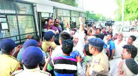 28 held for protesting against VMC's delay in allotting homes