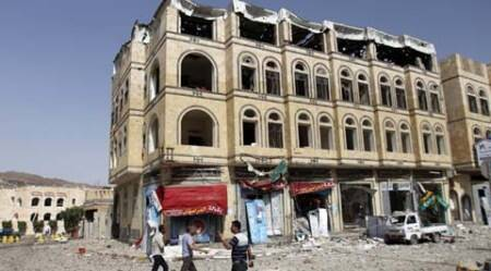 Bombs shatter houses in Yemen capital, hit near Iran Embassy