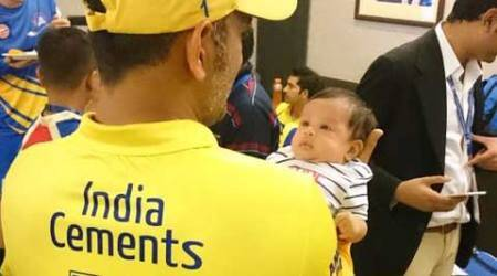 MS Dhoni's daughter Ziva 'debuts', from CSK dressing room