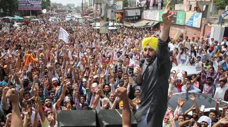 Moga molestation, AAP protest, bhagwant mann