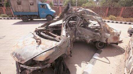 Businessman dies as car goes up in flames after crash