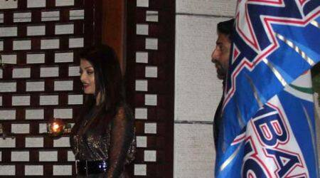 Aishwarya, Abhishek off mom-dad duty, attend Sachin Tendulkar's bash