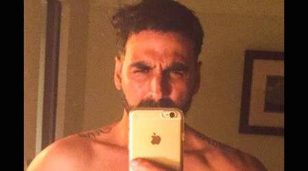 Akshay Kumar shares first selfie, poses shirtless