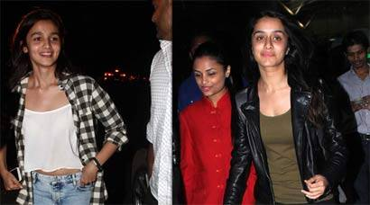 Shraddha Kapoor, Alia Bhatt step out without make up