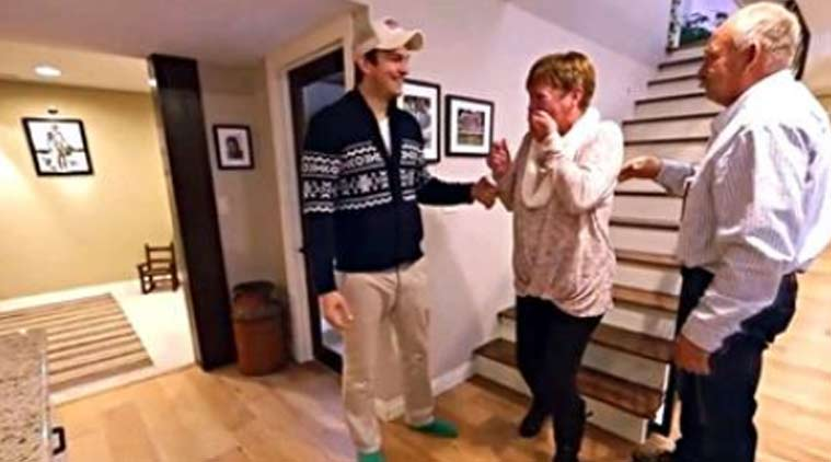Ashton Kutcher Surprises His Mom Remodels His Childhood Home For Her The Indian Express