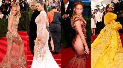 Red carpet stunners: Beyonce, Kim Kardashian, JLo show too much skin at Met Gala 2015