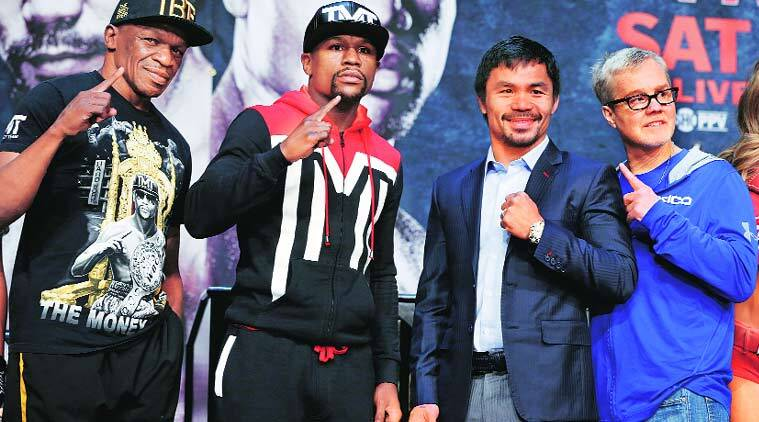 George Foreman, Floyd Mayweather vs Manny Pacquiao bout, Floyd Mayweather, Manny Pacquiao, boxing, sports, sports news, boxing news, indian express, indian express, news