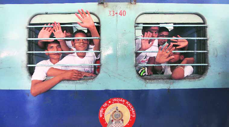 The children will be produced before the Child Welfare Committee in Lucknow before being reunited with their families.  (Source: Express photo by Prashant Nadkar)