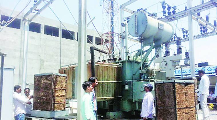 Desert coolers being used to keep transformers going in Karimnagar, Telangana. (Source: Express archive)
