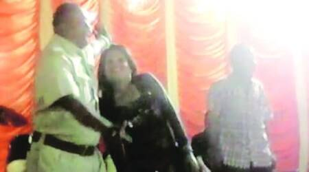 Vadodara cops shower money on dancer, caught on video