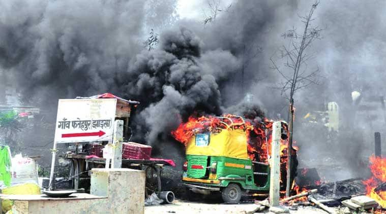 demolition drive, delhi demolition drive, HUDA, delhi police, Rapid Action Force, MCG, delhi news, city news, local news, Indian Express