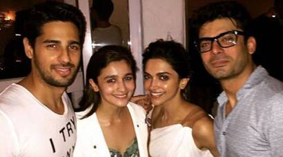 When Kapoor and Sons – Fawad, Alia and Sidharth partied with Piku Deepika