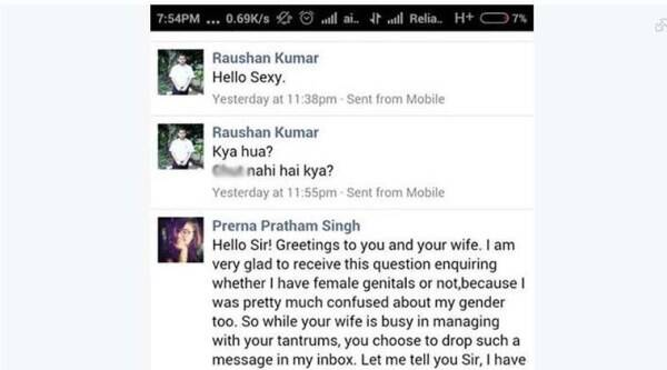 prerna pratham singh, facebook harassment, harassment facebook, facebook harassment case, facebook offensive messages, offensive messages facebook, man sharged for Facebook message, trending news, facebook india, india news