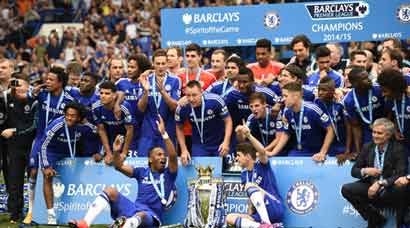 Amid sea of blue, Chelsea bask in EPL glory