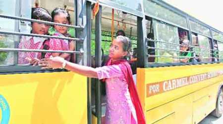 2 schools show the way, their buses already have female attendants