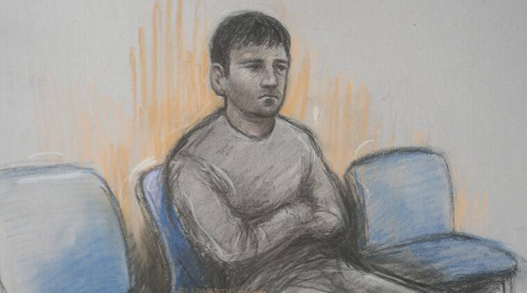 In this courtroom sketch, British financial trader Navinder Singh Sarao, who is fighting extradition to the U.S. where he faces charges of using lightning-fast software to manipulate the market for E-Mini S&P 500 futures contracts on the Chicago Mercantile Exchange, is depicted as he appears at Westminster Magistrates' Court, London, Wednesday, April 29, 2015. Sarao allegedly employed a ruse called spoofing, a bluffing technique in which traders try to manipulate the price of stocks or other assets by making fake trades to create the impression they want to sell when they really want to buy, or vice versa. (Elizabeth Cook/PA via AP)