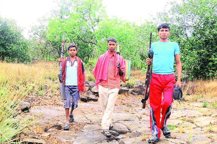 Villagers in Bastar carry countrymade muzzle-loading guns called bhar-maar for hunting. The police often round up locals carrying the gun even though the unwieldy weapon is not a part of the Maoist armoury